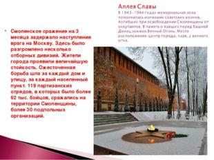 Смоленское сражение на 3 месяца задержало наступление врага на Москву. Здесь