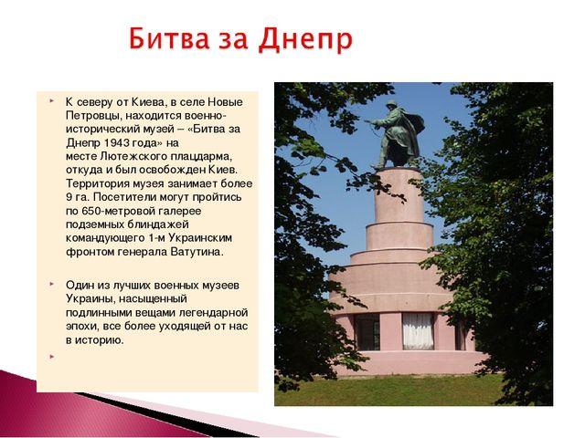 К северу от Киева, в селе Новые Петровцы, находится военно-исторический музей...