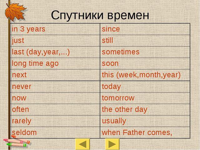 Cпутники времен in 3 yearssince juststill last (day,year,...)sometimes lon...