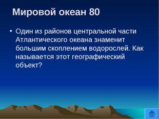 Мировой океан 80 Один из районов центральной части Атлантического океана зна