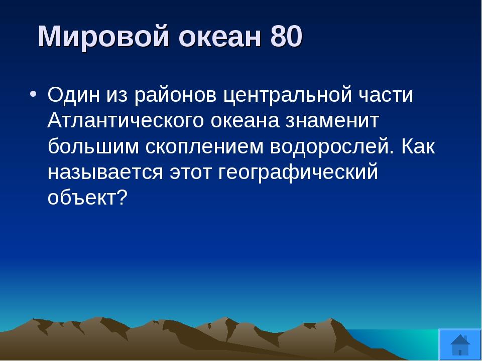 Мировой океан 80 Один из районов центральной части Атлантического океана зна...