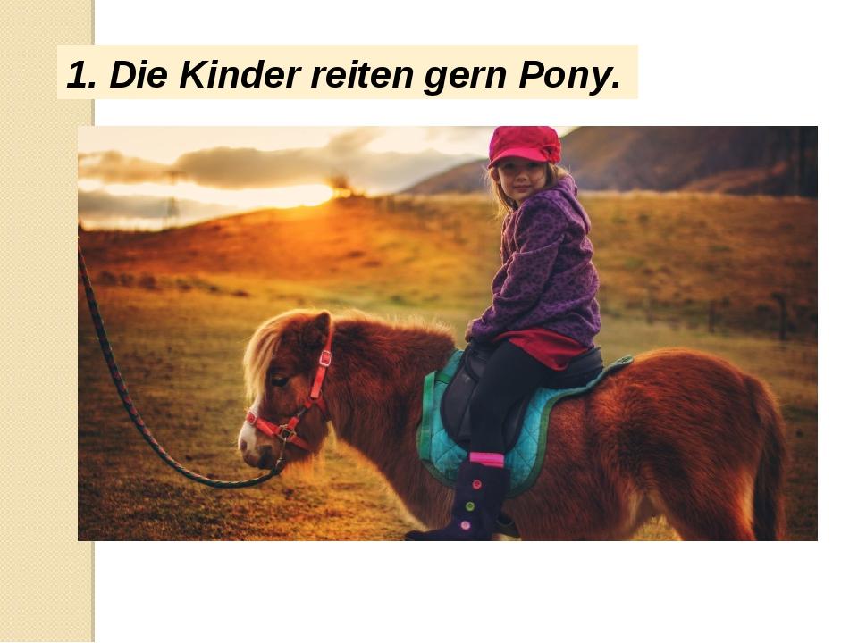 1. Die Kinder reiten gern Pony.