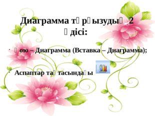 Қою – Диаграмма (Вставка – Диаграмма); Аспаптар тақтасындағы Диаграмма тұрғыз