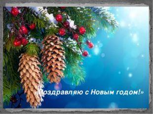 «Поздравляю с Новым годом!»