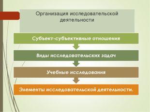 Организация исследовательской деятельности