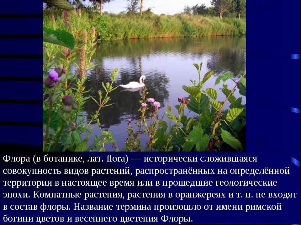 Флора (в ботанике, лат. flora) — исторически сложившаяся совокупность видов р...