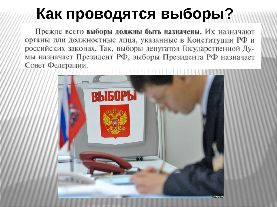Как проводятся выборы?
