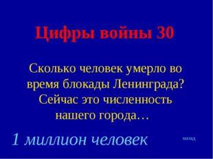 Цифры войны 30 Сколько человек умерло во время блокады Ленинграда? Сейчас это