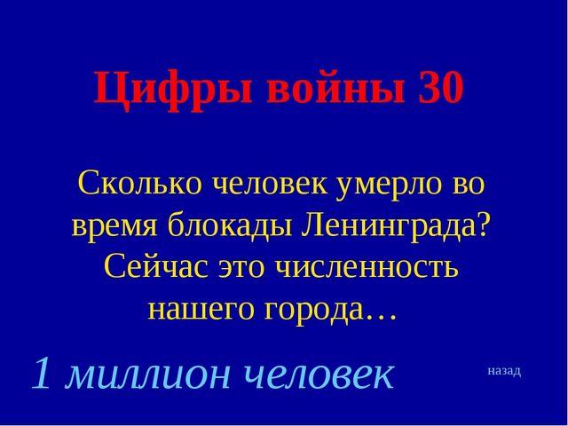 Цифры войны 30 Сколько человек умерло во время блокады Ленинграда? Сейчас это...
