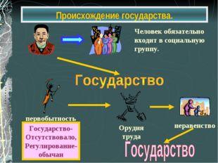 Происхождение государства.