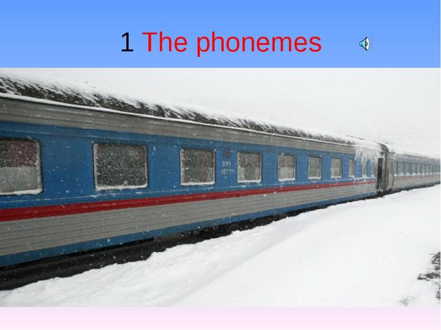1 The phonemes