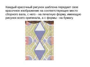 Каждый красочный рисунок шаблона передает свое красочное изображение на соотв