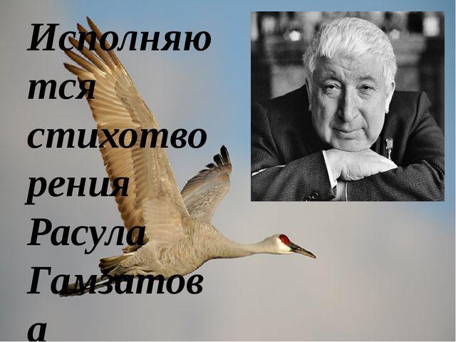 Исполняются стихотворения Расула Гамзатова В Хиросиме верят одной сказке: Выж...