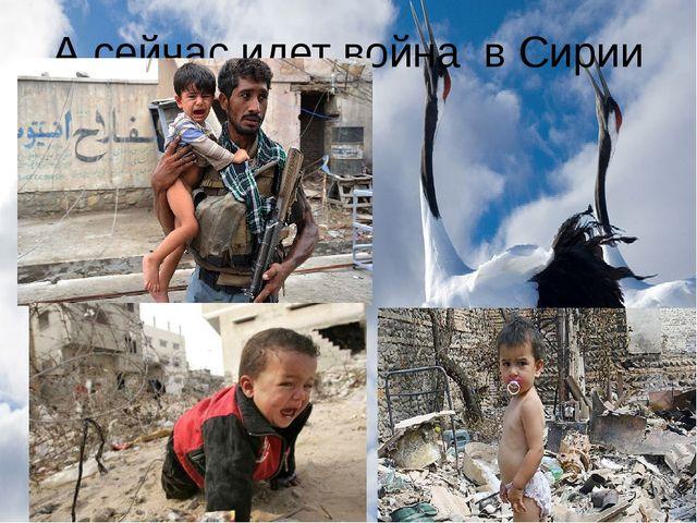 А сейчас идет война в Сирии