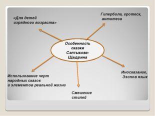 Особенность сказки Салтыкова-Щедрина «Для детей изрядного возраста» Гипербол