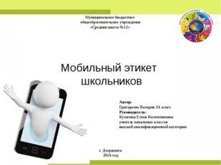 Муниципальное бюджетное общеобразовательное учреждение «Средняя школа №12» А