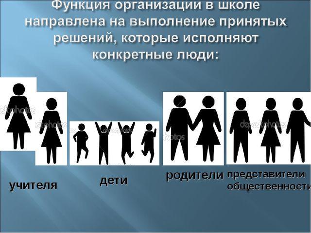 учителя дети родители представители общественности