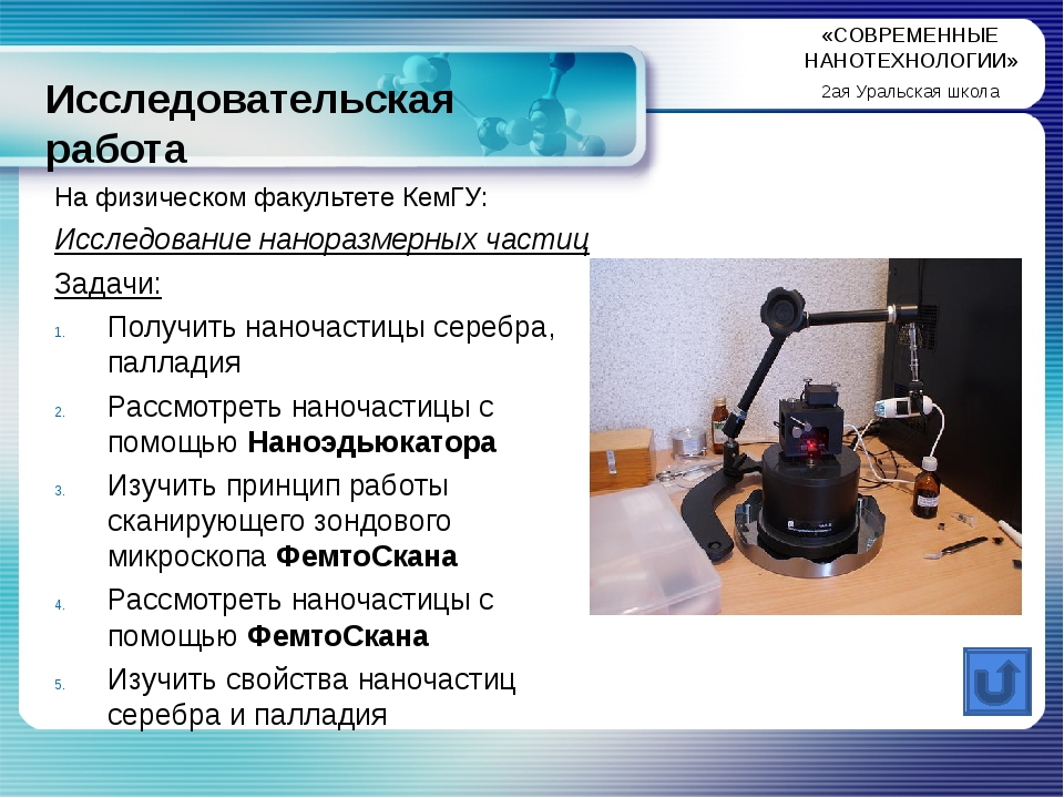 Исследовательская работа На физическом факультете КемГУ: Исследование нанораз...