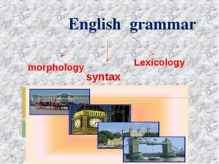 English grammar morphology syntax Lexicology