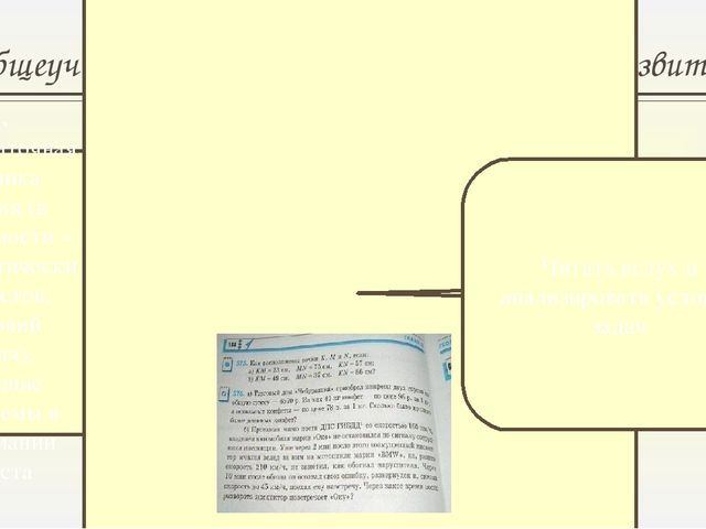 Общеучебные умения и навыки, элементы развития 1. Недостаточная техника чтени...