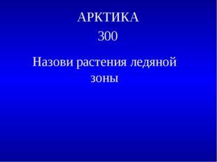 АРКТИКА 300 Назови растения ледяной зоны