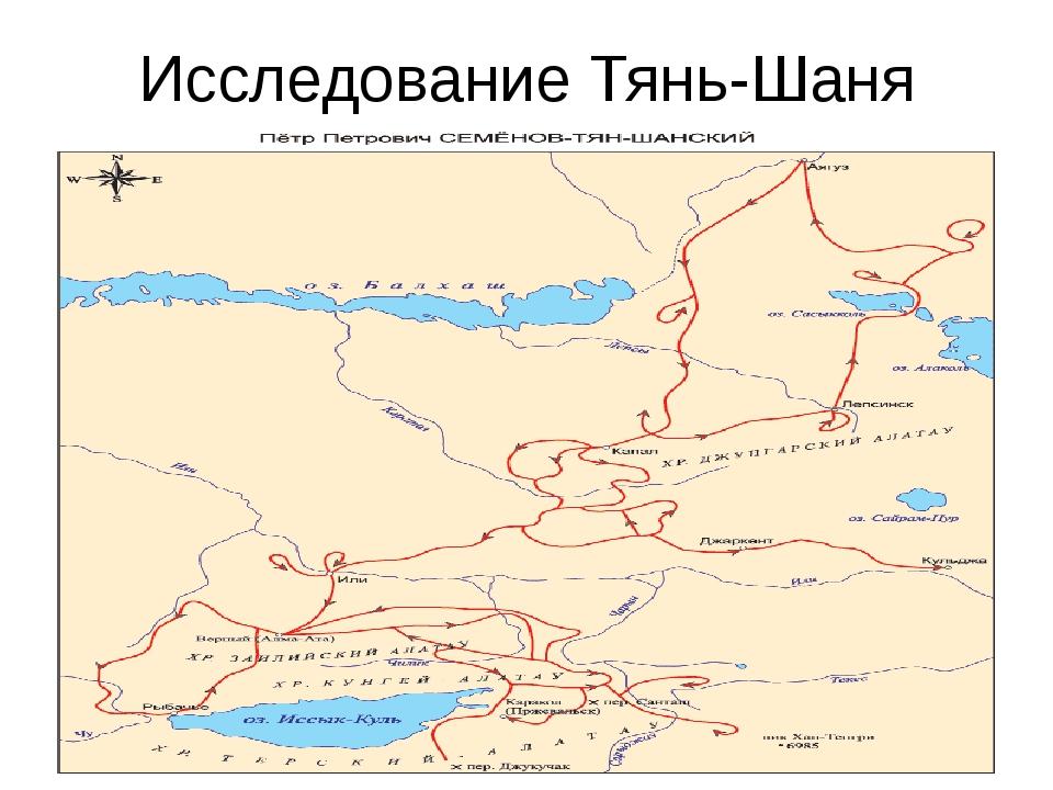 Исследование Тянь-Шаня П.П.Семеновым Тян-Шанским