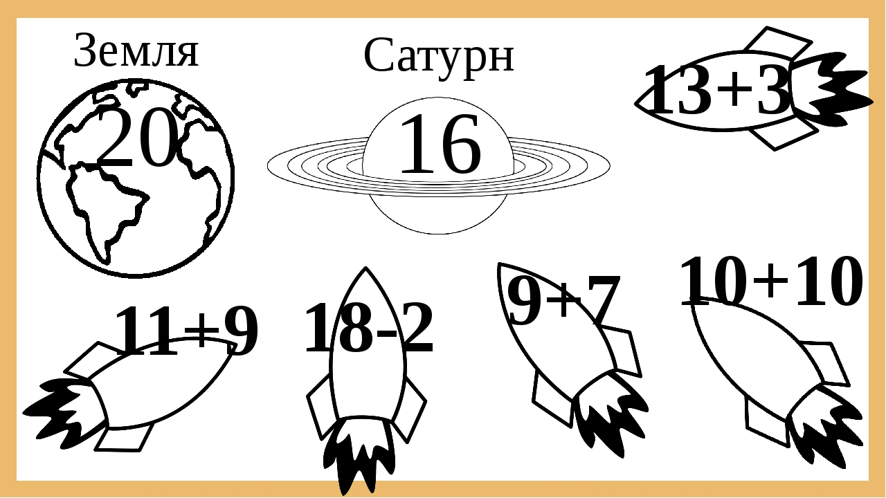 Земля Сатурн 20 16 13+3 18-2 11+9 9+7 10+10