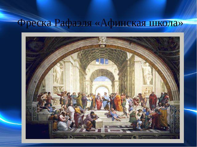 Фреска Рафаэля «Афинская школа»