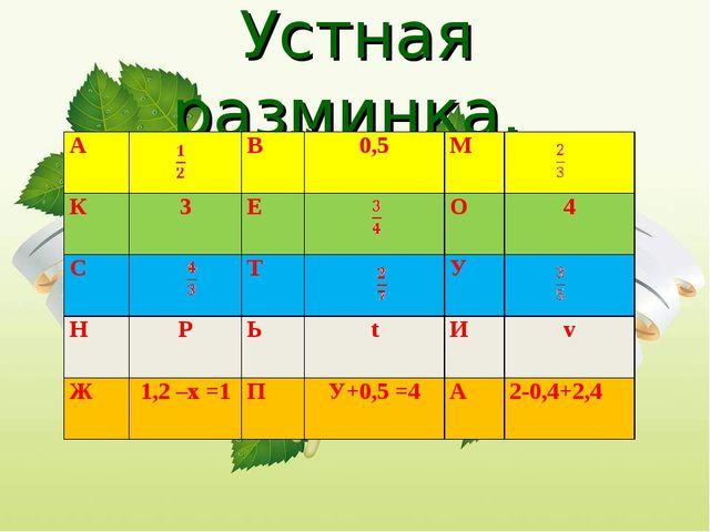Устная разминка. АВ0,5М К3ЕО4 СТУ НРЬtИv Ж1,2 –х =1ПУ...