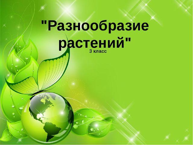"""""""Разнообразие растений"""" 3 класс"""