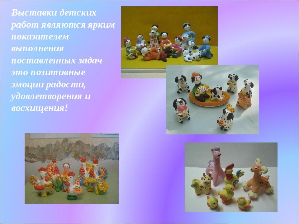 Выставки детских работ являются ярким показателем выполнения поставленных зад...