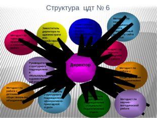 Структура цдт № 6 Заместитель директора по учебно-воспитательной работе Метод