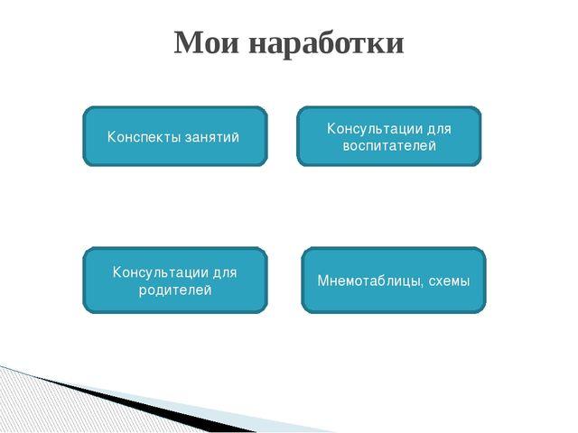 Мои наработки Конспекты занятий Консультации для воспитателей Мнемотаблицы, с...