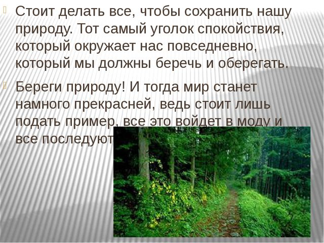 Стоит делать все, чтобы сохранить нашу природу. Тот самый уголок спокойствия...