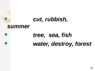 cut, rubbish, summer tree, sea, fish water, destroy, forest
