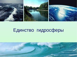 Единство гидросферы