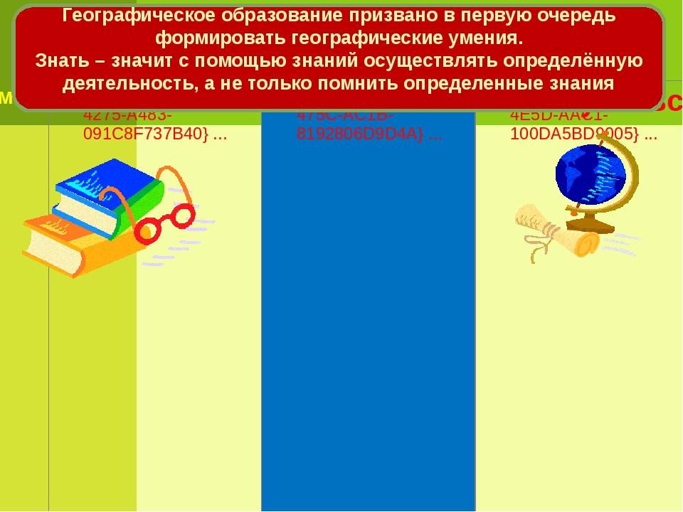 Географическое образование призвано в первую очередь формировать географическ...
