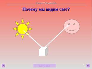 * Почему мы видим свет? Справка Начала Web-дизайна