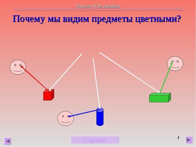 * Почему мы видим предметы цветными? Справка Начала Web-дизайна