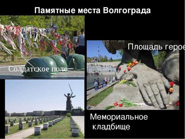 Памятные места Волгограда Солдатское поле Площадь героев Мемориальное кладбище