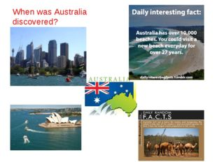 When was Australia discovered?