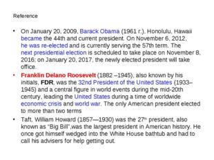 Reference On January 20, 2009,Barack Obama(1961 г.), Honolulu, Hawaii becam