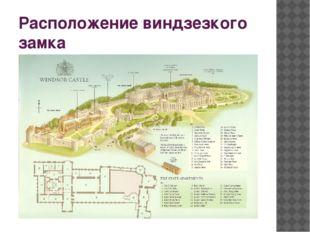 Расположение виндзезкого замка