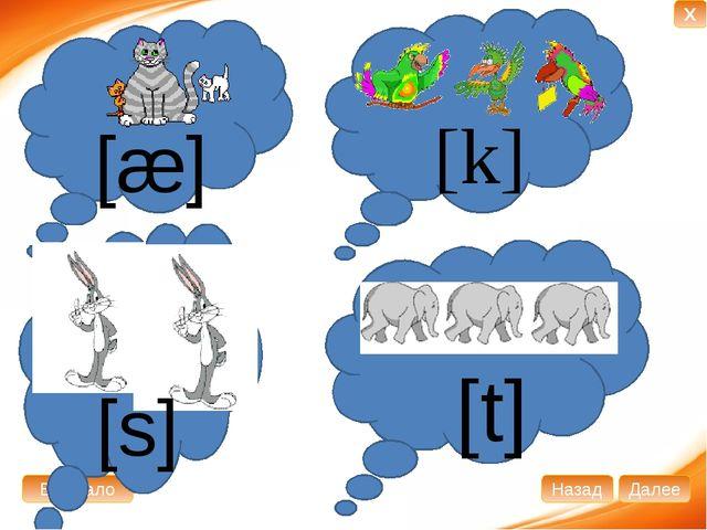 [k] [æ] [t] [s] В начало Далее Назад X