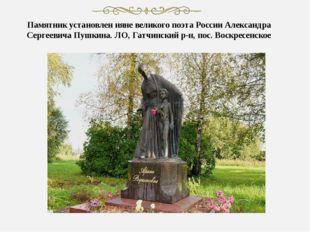 Памятник установлен няне великого поэта России Александра Сергеевича Пушкина.