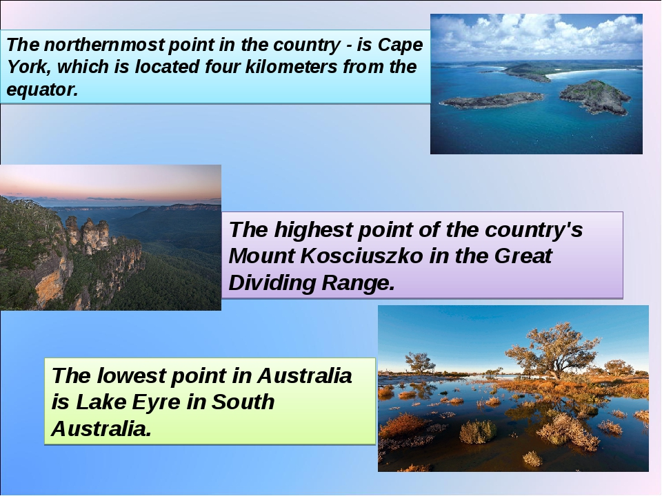 The northernmost point in the country - is Cape York, which is located four k...