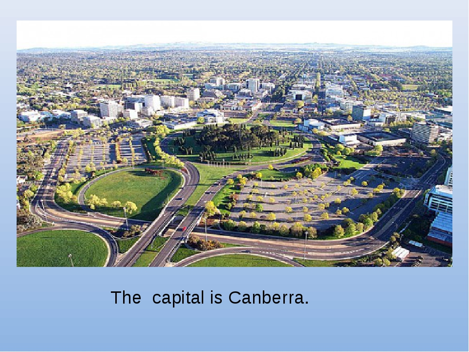 The capital is Canberra.