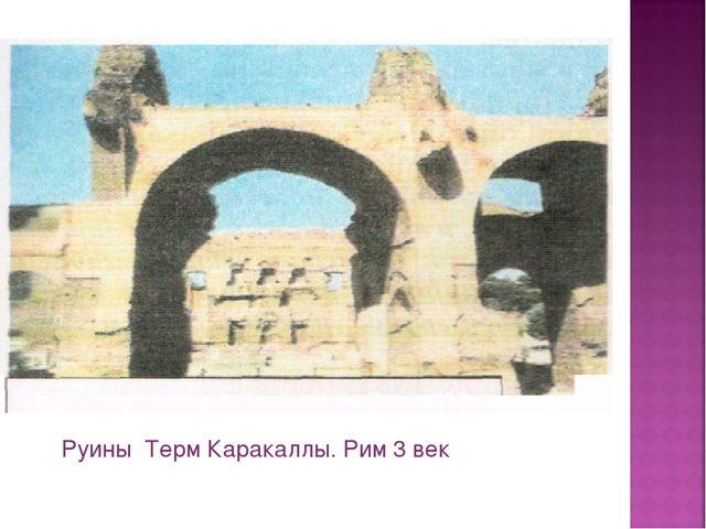Руины Терм Каракаллы. Рим 3 век