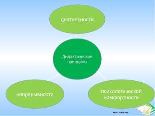 Дидактические принципы непрерывности психологической комфортности деятельност