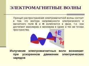 ЭЛЕКТРОМАГНИТНЫЕ ВОЛНЫ Принцип распространения электромагнитной волны состоит